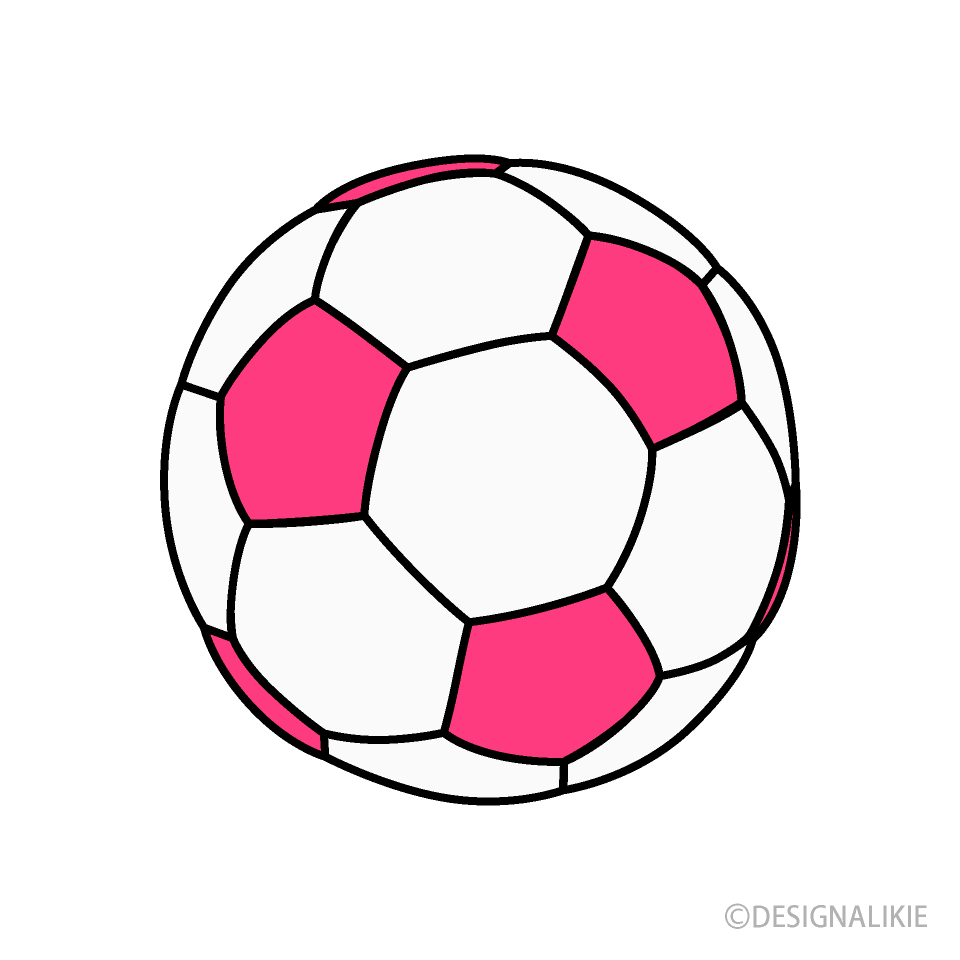 Free Pink Soccer Ball Clipart Image|Illustoon.