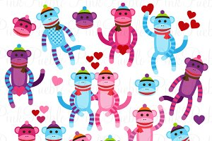 Sock monkey clipart Photos, Graphics, Fonts, Themes, Templates.