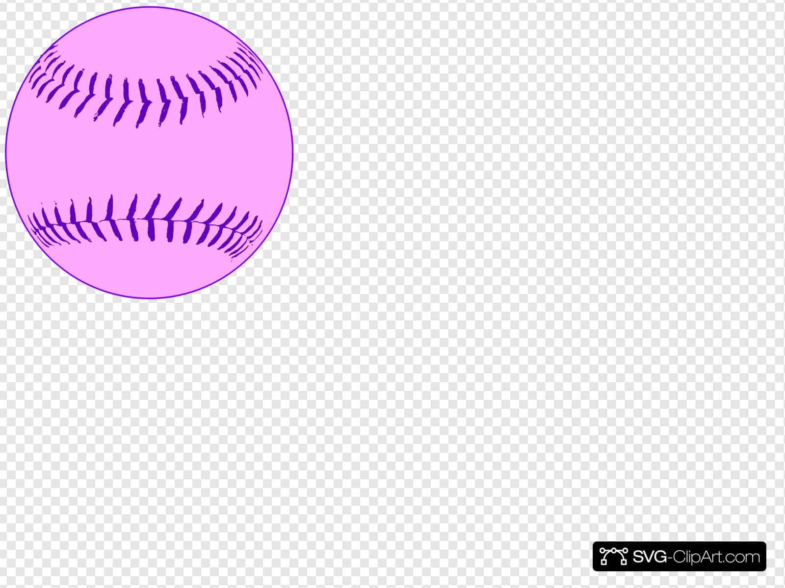 Pink Softball Clip art, Icon and SVG.