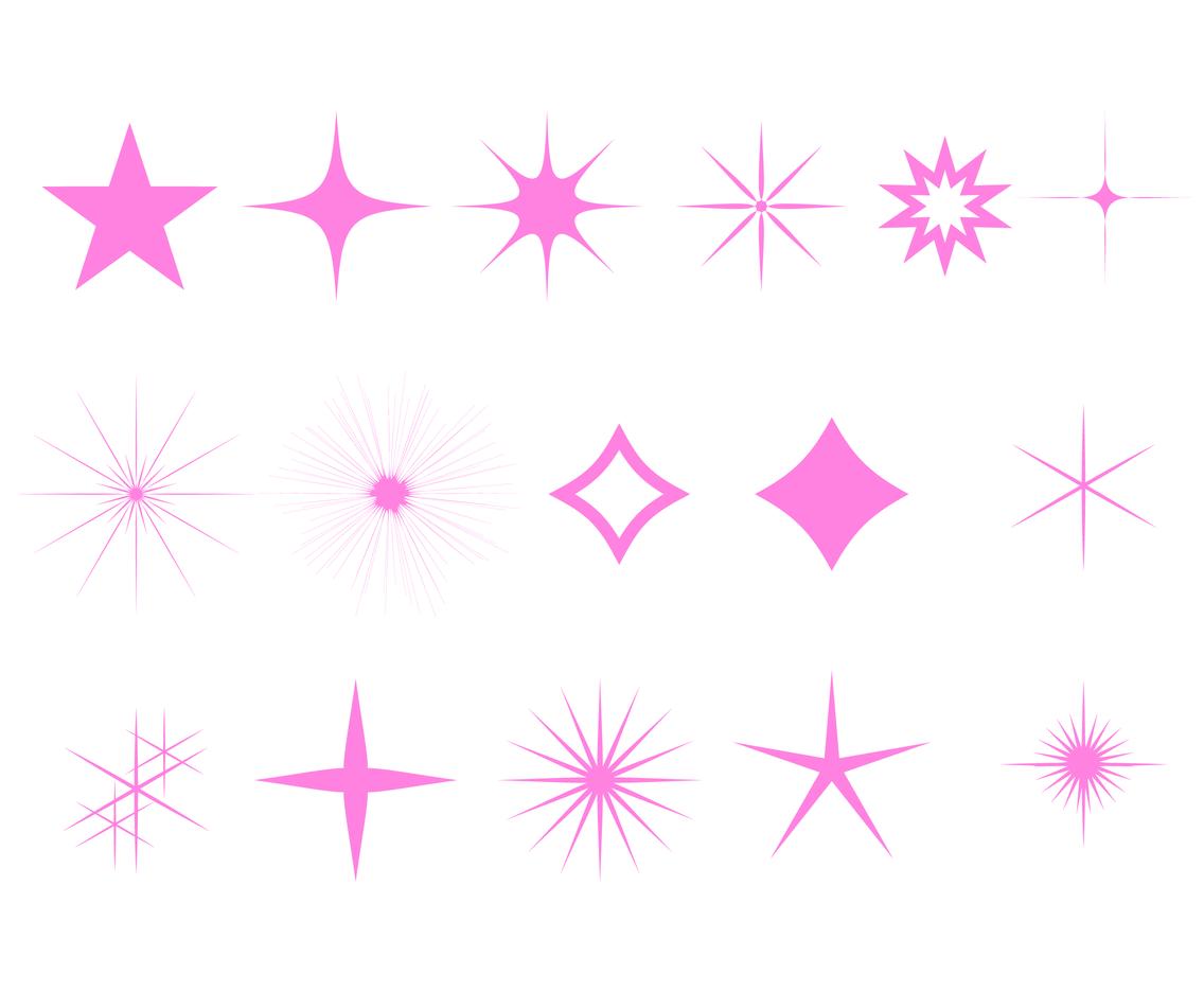 Pink Sparkles Clipart.