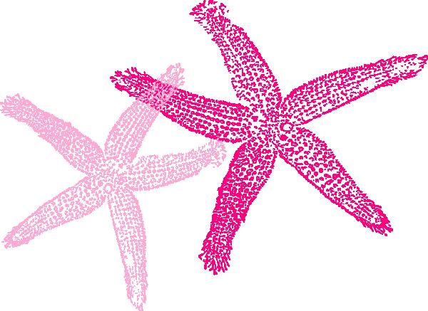 Pink Starfish clip art.