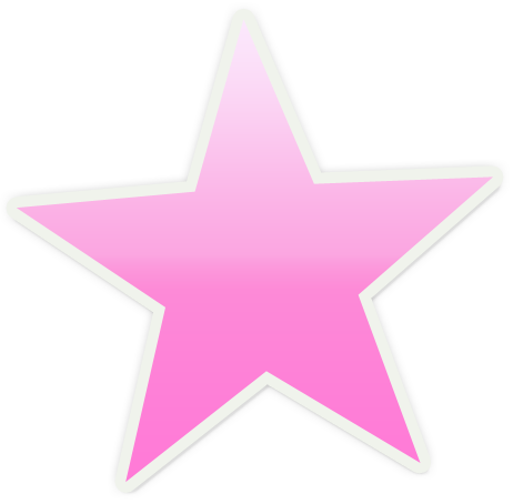 pink star clipart.