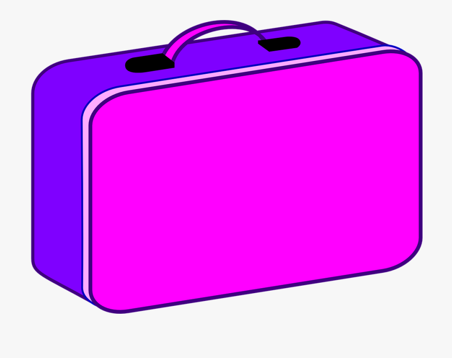 Luggage Clipart Pink Suitcase.