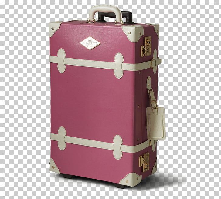 Hand luggage Suitcase Baggage Travel Trolley, pink suitcase.
