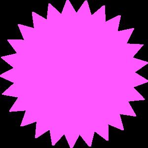 Pink Sun Star Clip Art at Clker.com.