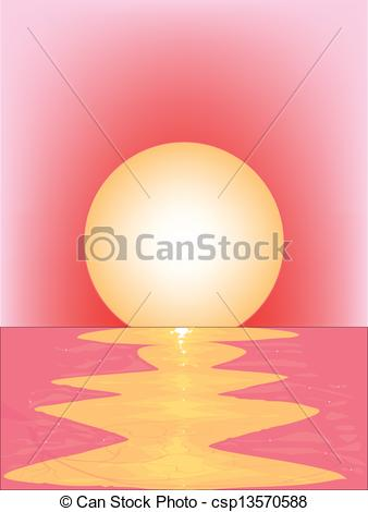 Vector of Pink Sunset.