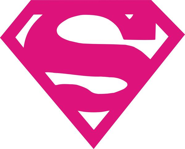 Superman Logo Vinyl Decal.