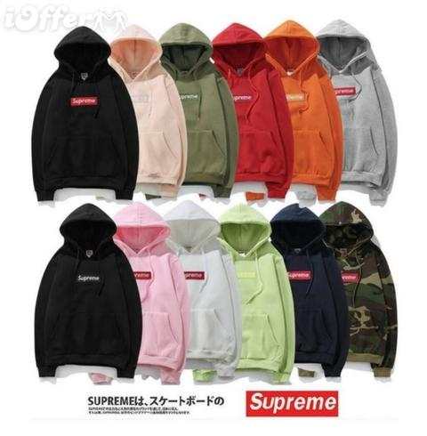 Classic Men\'s Boy Supreme Box Logo Hoodie Pink Sweater from Supreme on 21  Buttons.