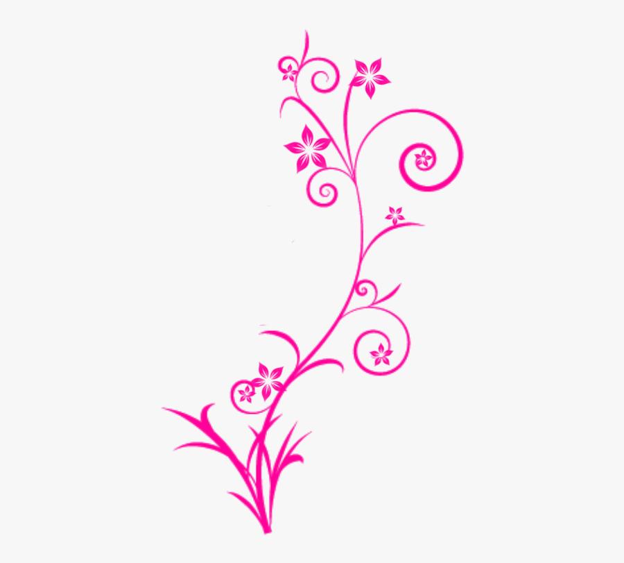 Flower Swirls Clipart.