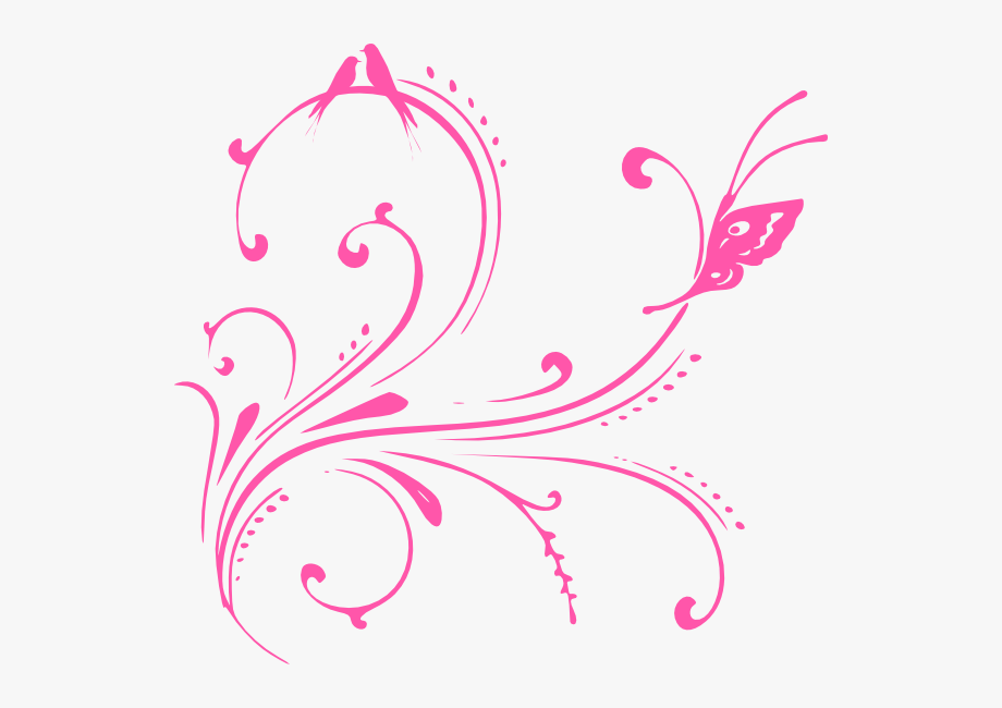 Pink Swirl Birds Clip Art At Clker.