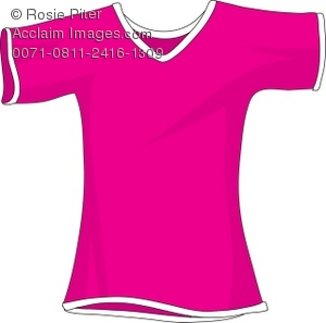 Royalty Free Clipart Illustration of a Small Hot Pink T.