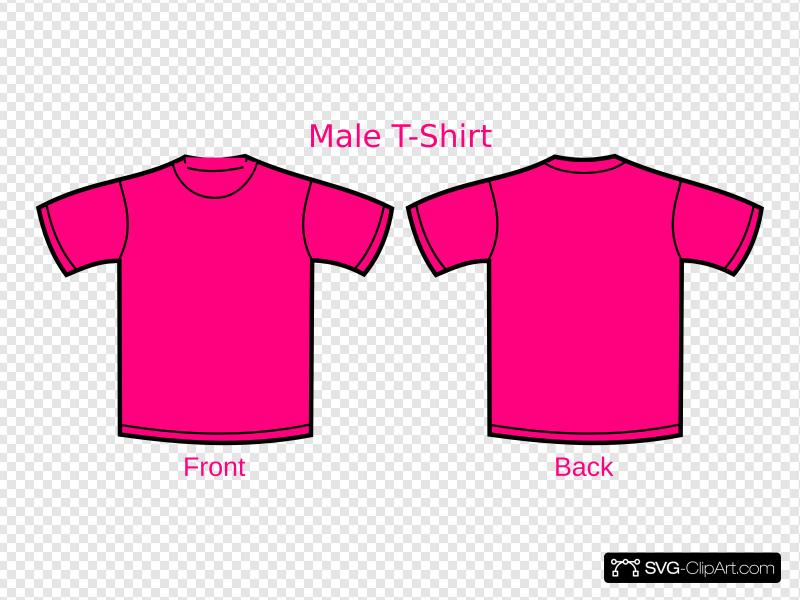 Pink Mens Tshirt Clip art, Icon and SVG.