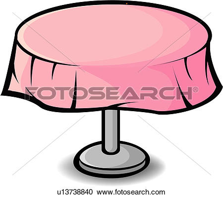 Clipart of eating, tablecloth, dining, furnishings, tablespread.