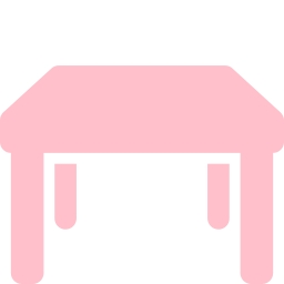 Free pink table icon.
