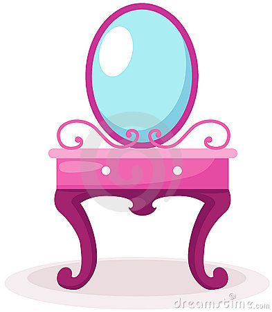 Pink Table Clipart.