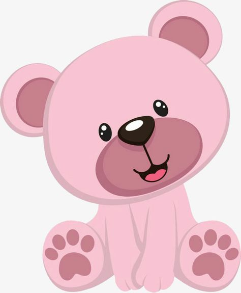 Pink Teddy Bear, Graphic Design, Creative Design, Pink PNG.