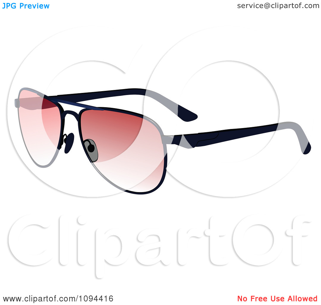 Clipart Sunglasses With Pink Tint On The Lenses.