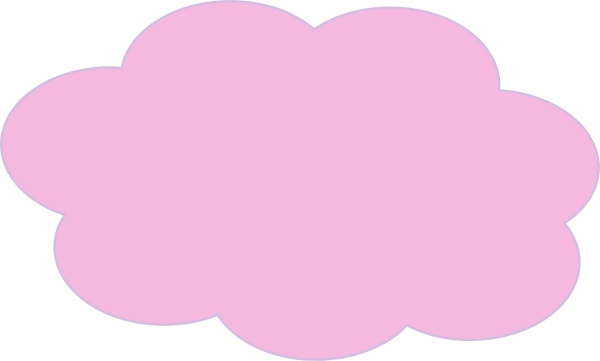 Clip Art Fluffy Pink Clouds.