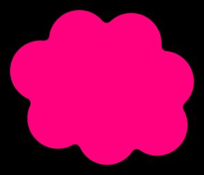Clip Art Fluffy Pink Clouds.