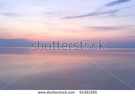Tranquil Lake And Sunset Stock Photos, Royalty.