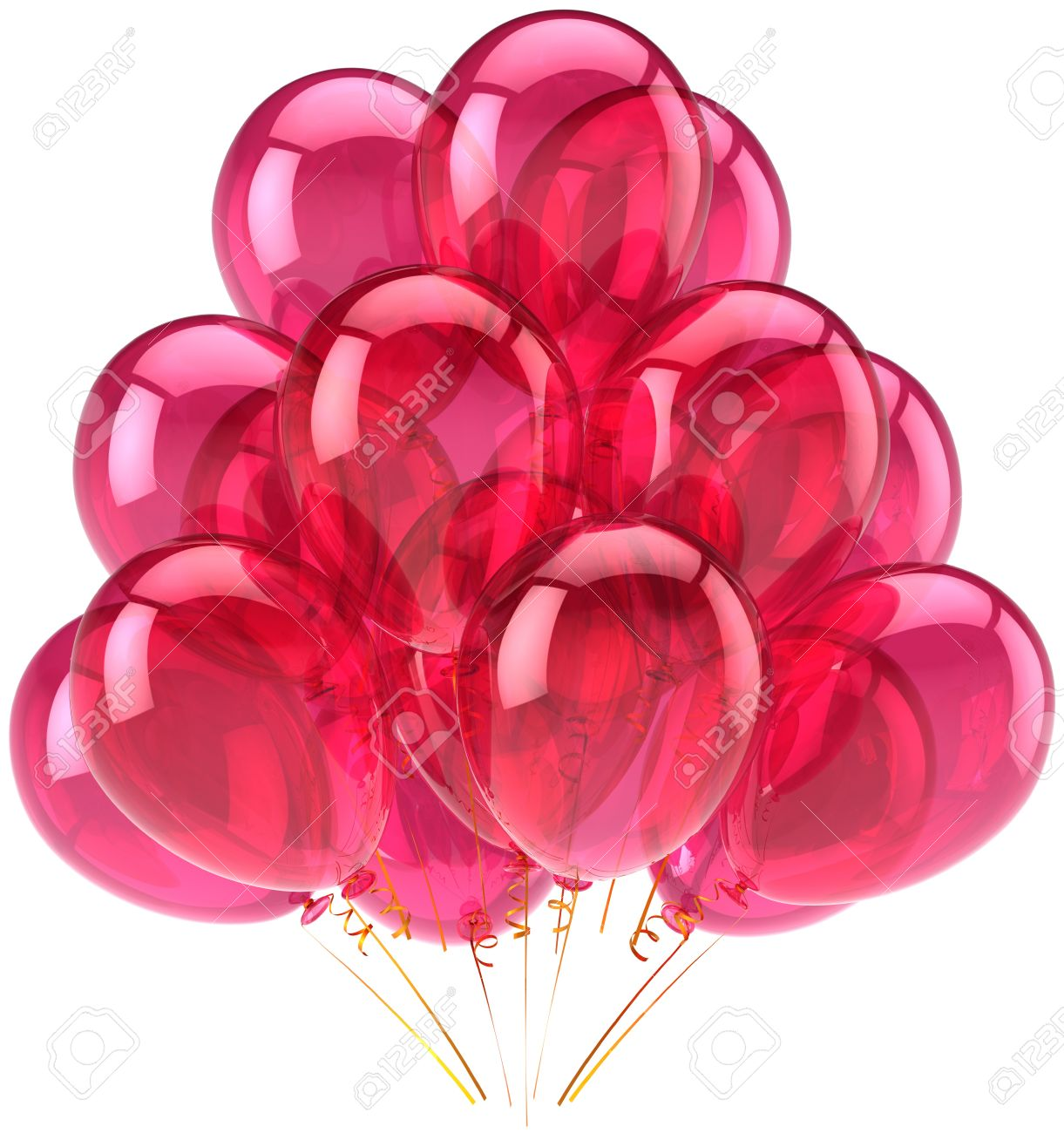 Party Balloons Pink Translucent Romantic Decoration. This Is.