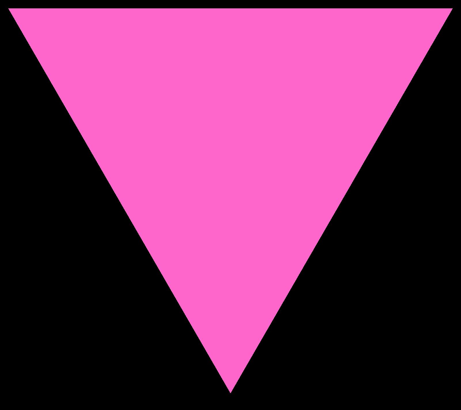 Triangular clipart pink triangle, Triangular pink triangle.