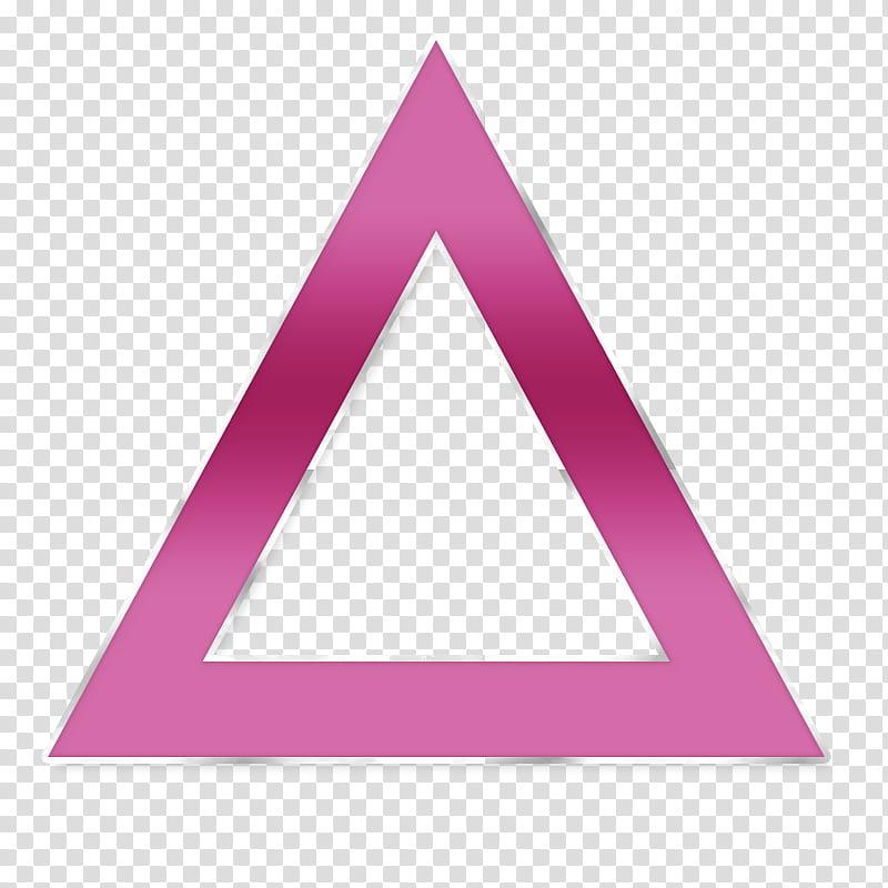 Formas, pink triangle illustration transparent background.