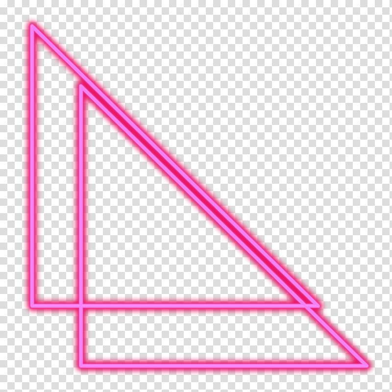 Two pink triangles art transparent background PNG clipart.
