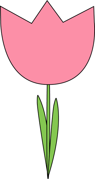 Pink Tulip Clipart.
