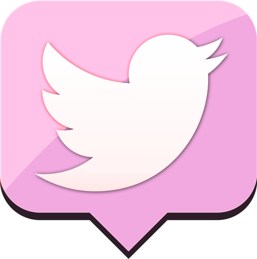 Pink Twitter Png.