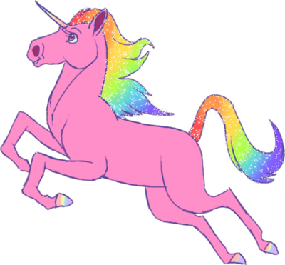 Pink Unicorn Clipart.