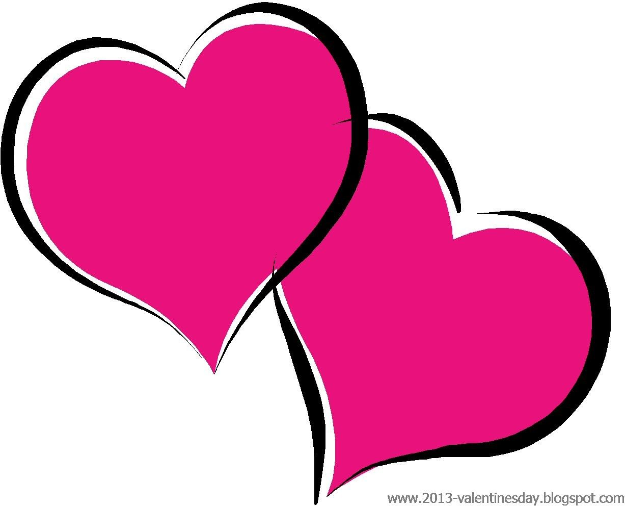 Cute Black And White Valentine Heart Clipart.