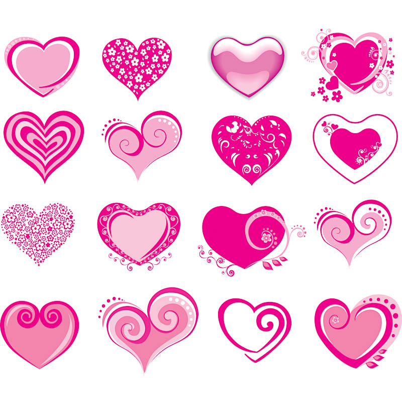 Pink valentine heart clip art clipart photo 2.