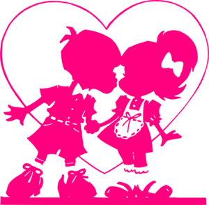Pink Valentine Kiss Clip Art at Clker.com.