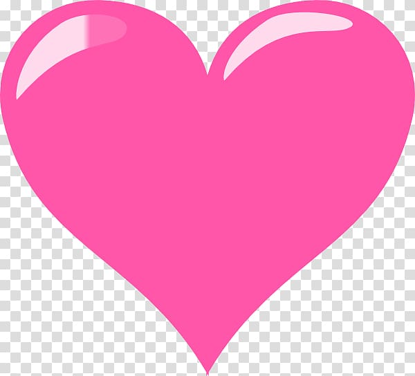 Heart Valentine\\\'s Day Free , Pink Heart Glossy transparent.