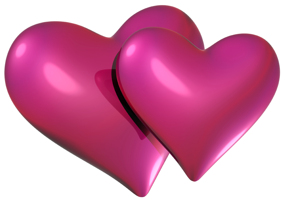Valentine Pink Hearts PNG Clipart.