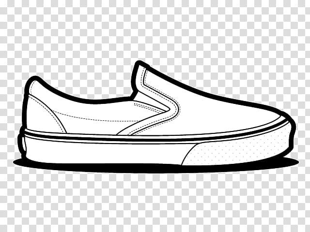 Vans Classic Slip On, shoe illustration transparent.
