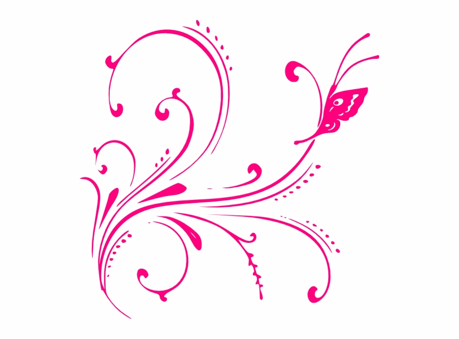 Glitter Clipart Vector Pink Butterfly Border Png.