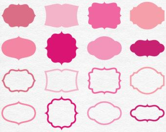 Pink Vector Shapes.