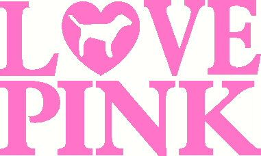 Love Pink Victoria Secret vinyl decal sticker laptop auto.