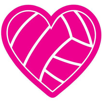 Pink volleyball clipart.