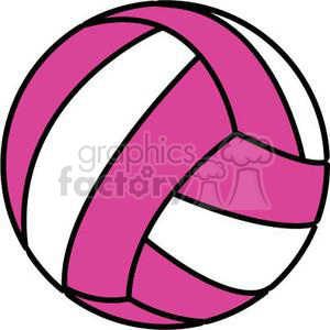 volleyball pink and white clipart. Royalty.