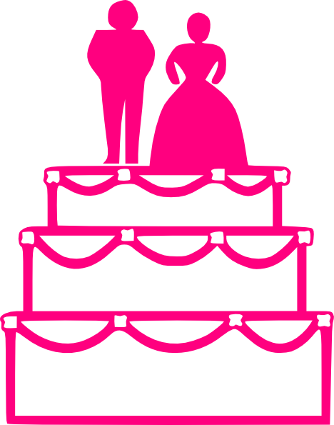 Pink Wedding Cake Clip Art at Clker.com.