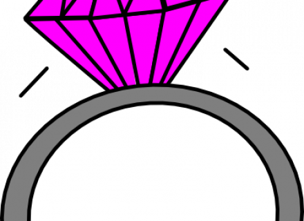 Pink Wedding Clip Art Transparent Background.