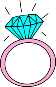 Engagement Ring Clipart Pink.