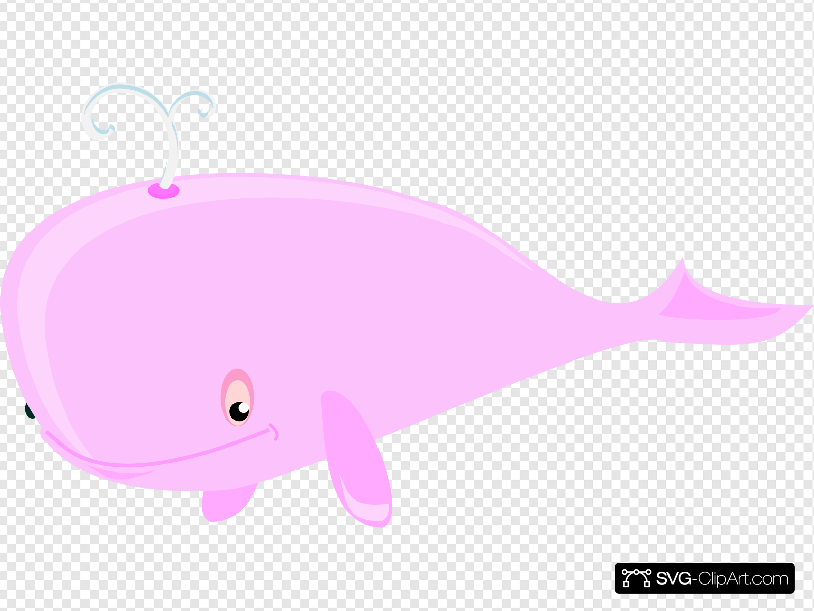 Pink Whale Clip art, Icon and SVG.