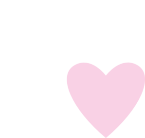 White & Pink Double Hearts Clip Art at Clker.com.