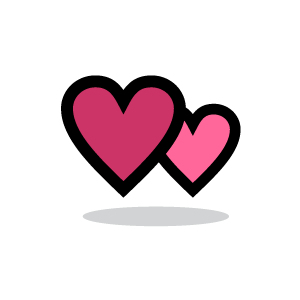 Pink clipart with white hearts.