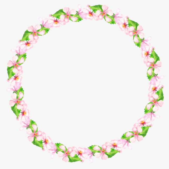 Pink Wreath, Plant, Leaves, Pink Flowers PNG Image and.