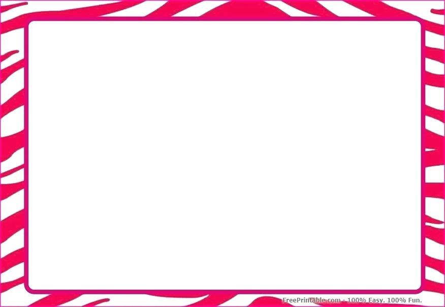 Zebra Border Template Free Download Clip Art.